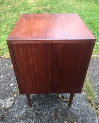 1970s Real Wood Record Cabinet - VINTAGE/RETRO - Good Quality