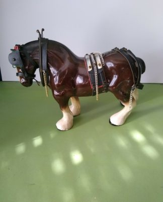 "Vintage Ceramic Bay Shire Heavy Horse Like Melba Ware 11"" High"